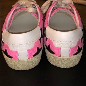 Saint Laurent Shoes - Saint Laurent Court Classic Star Sneakers